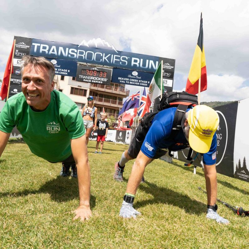 Trans Rockies Race Push ups