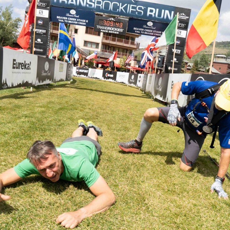 Trans Rockies Race Push ups tap out