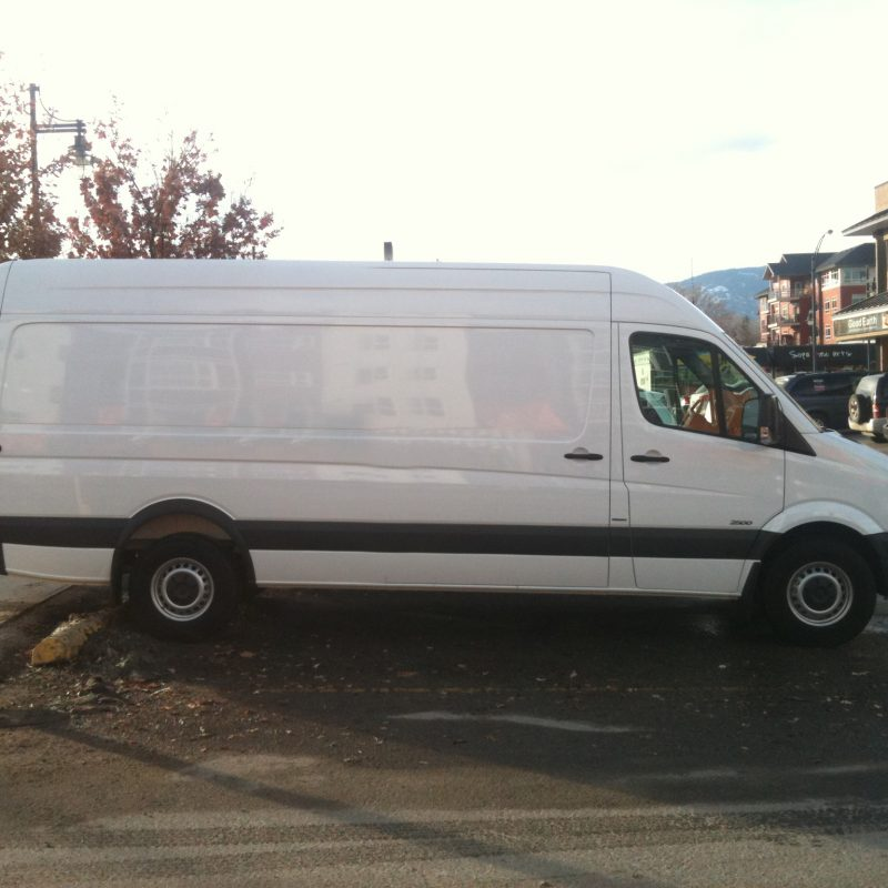 blank van left side